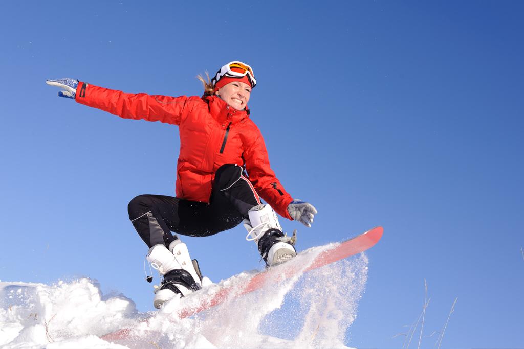 Female Snowboader